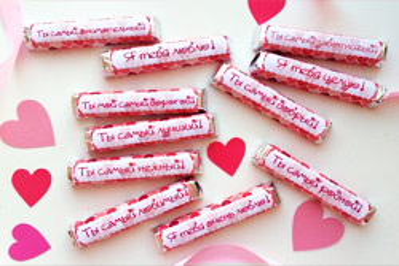 Шоколад с запиской