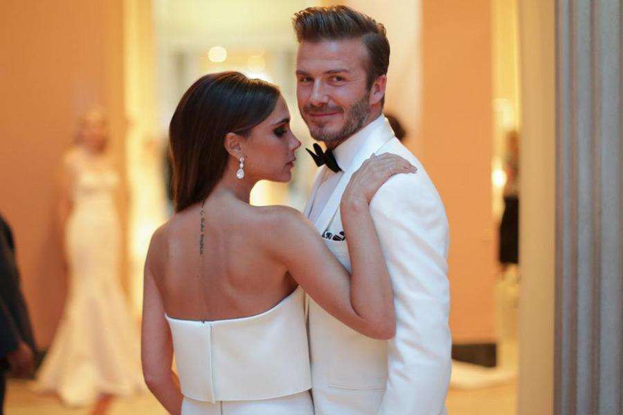 Дэвид и Виктория Бекхэм отпраздновали 20-ю годовщину свадьбы