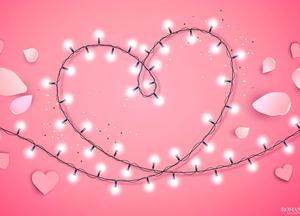 День святого Валентина: Гирлянда в форме сердца