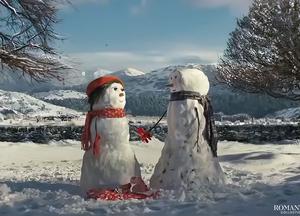 Видео: Влюбленные снеговики