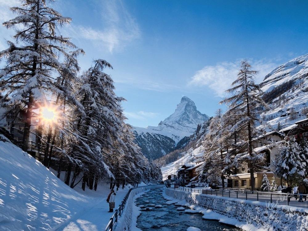 Прекрасные города зимой