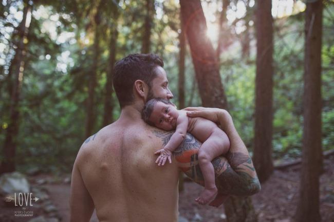 «Счастливый папа и его маленькая принцесса».