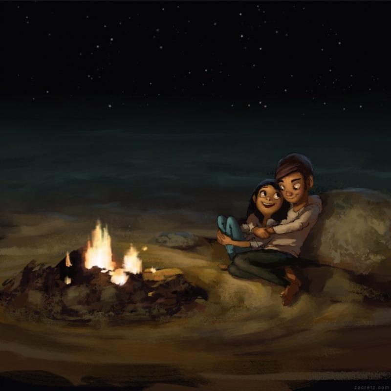 15 иллюстраций о любви и романтике
