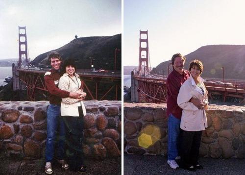 15 супружеских пар воссоздали старые фото и показали, что можно любить одного человека всю жизнь