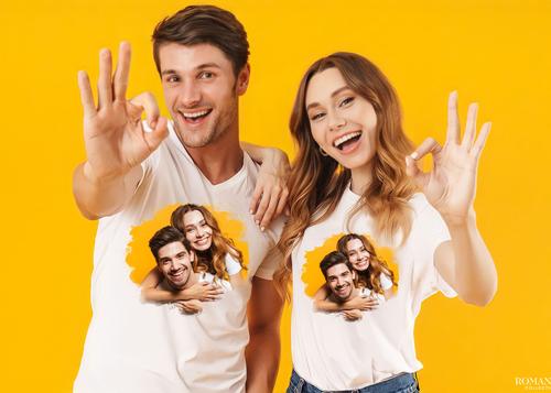 Фото с признаниями на футболке