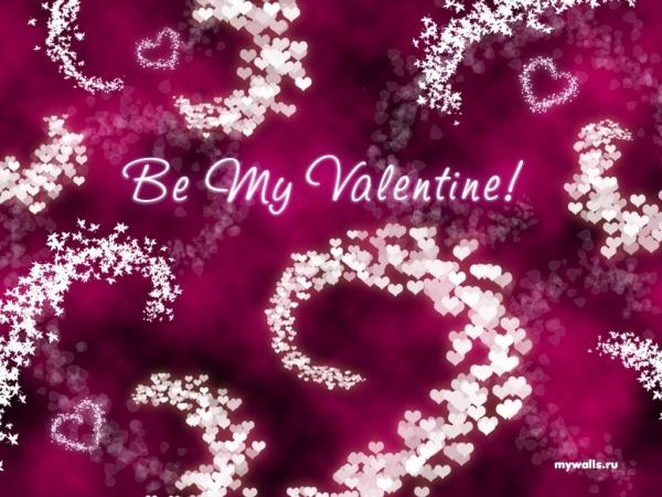 Обои о любви: Be My Valentine
