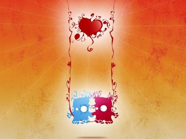 Обои о любви: Влюблённые