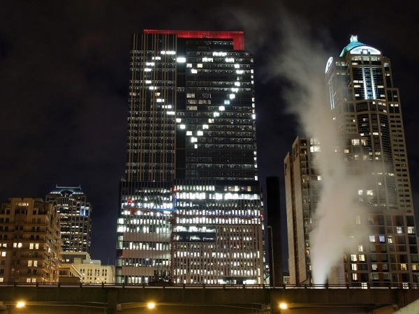 Обои о любви: Сердце из окон