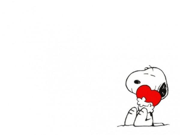 Обои о любви: Влюблённая собачка