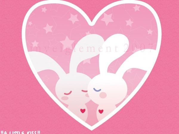Обои о любви: Зайчишки
