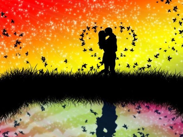 Обои о любви: Влюблённая пара