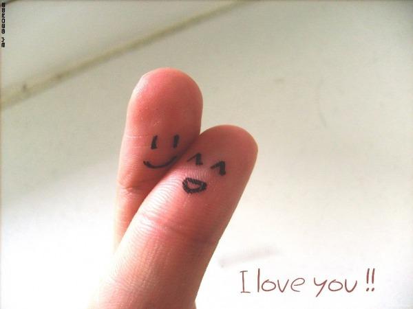 Обои о любви: Влюблённые пальчики