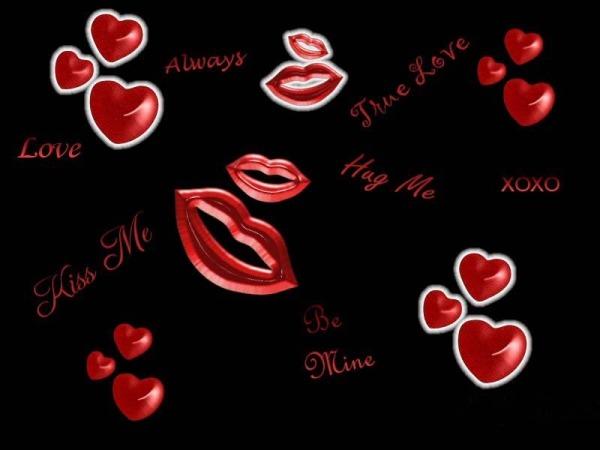 Обои о любви: Поцелуй обои