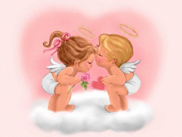 Обои о любви: Ангелочки
