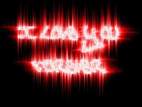 Обои о любви: I Love You Forever