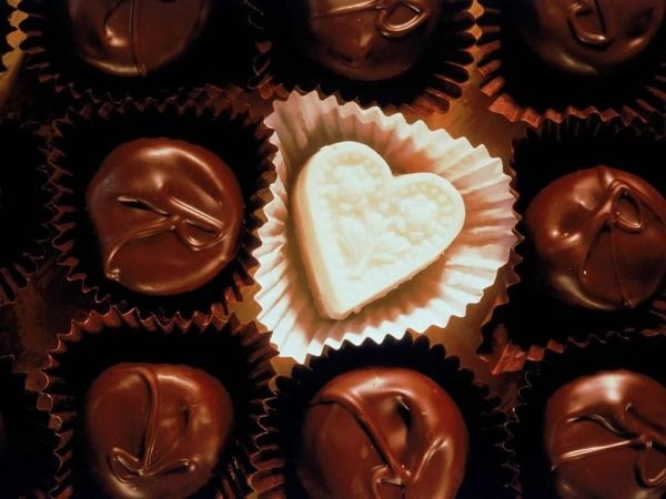 Обои о любви: Шоколад