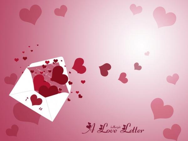 Обои о любви: Романтические обои: любовное письмо