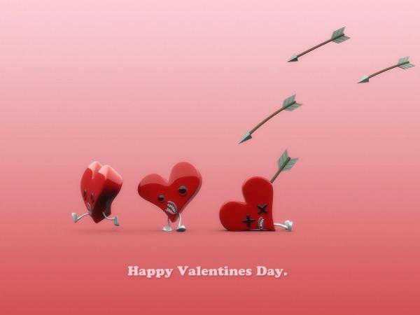 Обои о любви: Сердечки Happy Valentine Day