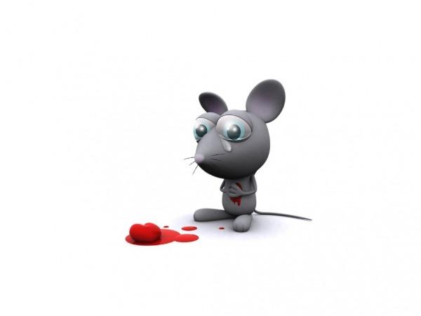 Обои о любви: Мышонок