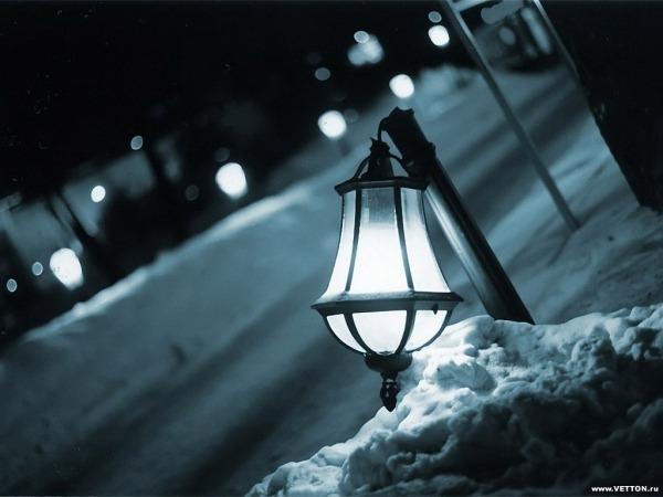 Обои о любви: Зимний фонарь