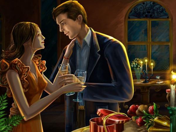 Обои о любви: Вечер при свечах