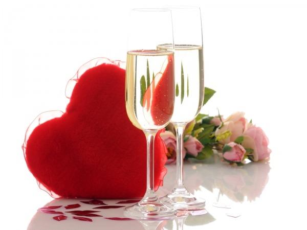 Обои о любви: Шампанское
