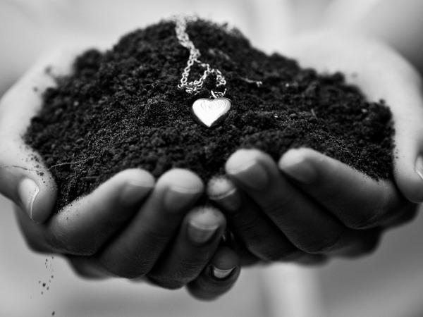 Обои о любви: Сердечко в руках