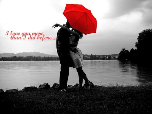 Обои о любви: Двое под зонтом