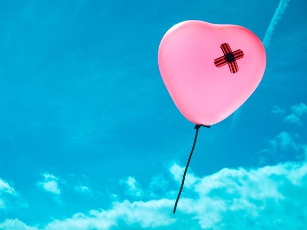 Обои о любви: Сердечко воздушный шарик