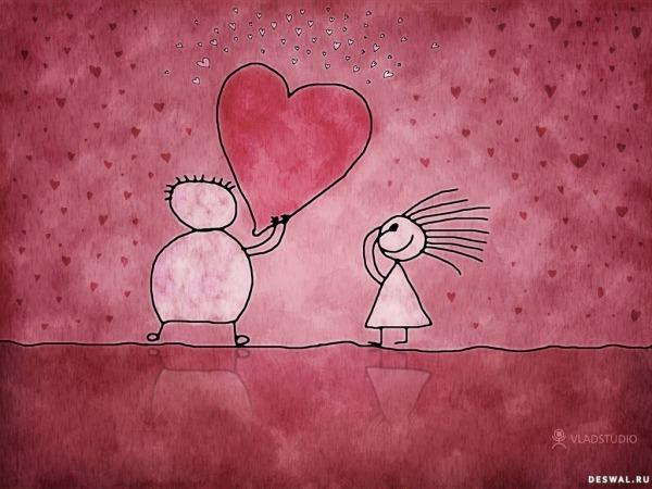 Обои о любви: Сердце в подарок любимой