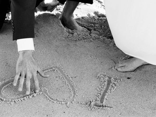 Обои о любви: Свадьба на берегу моря