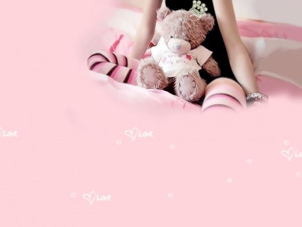 Обои о любви: Влюблённый мишка