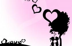 Обои о любви: Поцелуйчик