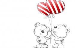 Обои о любви: Влюблённые мишки