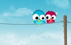 Обои о любви: Влюблённые птички