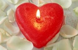 Обои о любви: Свеча