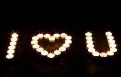 Обои о любви: Свечи I Love You