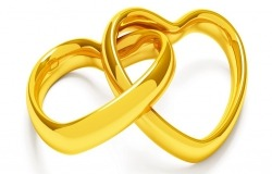 Обои о любви: Сердца кольца