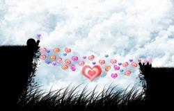 Обои о любви: Влюблённые улитки