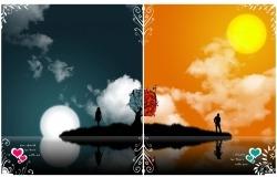 Обои о любви: Он и Она, День и Ночь