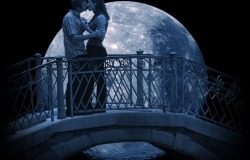 Обои о любви: Поцелуй на мосту