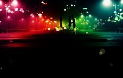 Обои о любви: Влюбленные на бульваре