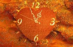 Обои о любви: Сердце-часы