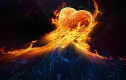Обои о любви: Огненное сердце