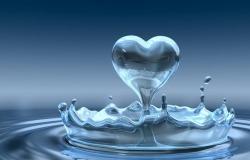 Обои о любви: Сердце из воды