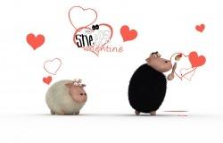 Обои о любви: Влюблённые овечки