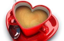Обои о любви: Кофе с любовью