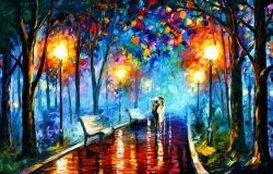 Обои о любви: Прогулка в парке