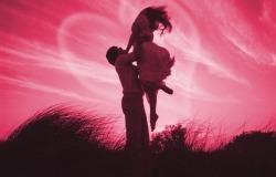 Обои о любви: Влюбленные в небе