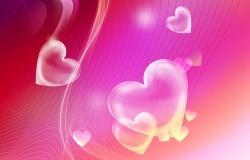 Обои о любви: Яркие сердечки